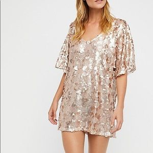 Free people sequin t shirt dress